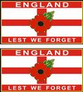 Poppy Car Sticker - St George England Lest We Forget